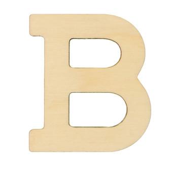 """Essentials By Leisure Arts Wood Letter 1.75"""" Birch B"""