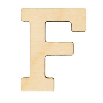 "Essentials By Leisure Arts Wood Letter 1.75"" Birch F"