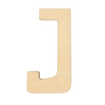"""Essentials By Leisure Arts Wood Letter 1.75"""" Birch J"""