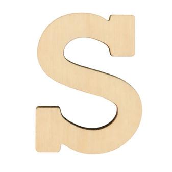 "Essentials By Leisure Arts Wood Letter 1.75"" Birch S"