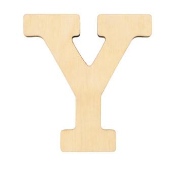 """Essentials By Leisure Arts Wood Letter 1.75"""" Birch Y"""