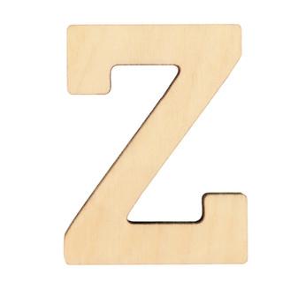 """Essentials By Leisure Arts Wood Letter 1.75"""" Birch Z"""