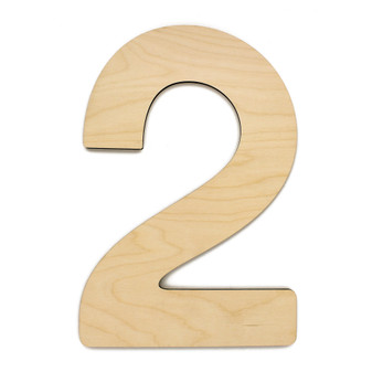 """Essentials By Leisure Arts Wood Letter 13"""" Birch No 2"""