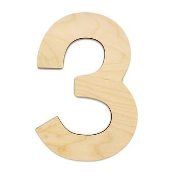 """Essentials By Leisure Arts Wood Letter 13"""" Birch No 3"""