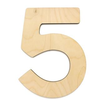 """Essentials By Leisure Arts Wood Letter 13"""" Birch No 5"""
