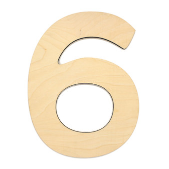 """Essentials By Leisure Arts Wood Letter 13"""" Birch No 6"""