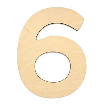 """Essentials By Leisure Arts Wood Letter 9.5"""" Birch No 6"""