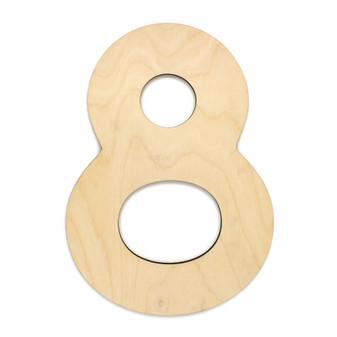 """Essentials By Leisure Arts Wood Letter 9.5"""" Birch No 8"""