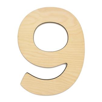 """Essentials By Leisure Arts Wood Letter 9.5"""" Birch No 9"""