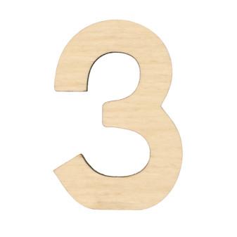 """Essentials By Leisure Arts Wood Letter 1.75"""" Birch No 3"""