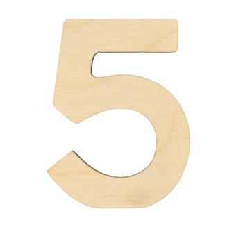 """Essentials By Leisure Arts Wood Letter 1.75"""" Birch No 5"""
