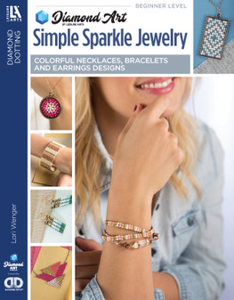 eBook Diamond Art By Leisure Arts Freestyle Diamond Dotting Simple Sparkle Jewelry