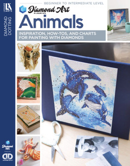 Diamond Art By Leisure Arts Freestyle Diamond Dotting Animals Painting Charts & Idea Book