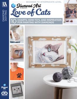 Diamond Art By Leisure Arts Freestyle Diamond Dotting Love of Cats Painting Charts & Idea Book