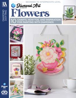 Diamond Art By Leisure Arts Freestyle Diamond Dotting Flowers Painting Charts & Idea Book