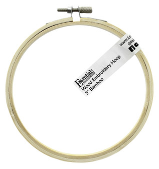 """Essentials By Leisure Arts Wood Embroidery Hoop 5"""" Bamboo"""