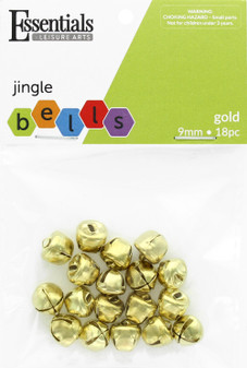 Essentials By Leisure Arts Bell Jingle 9mm Gold 18pc