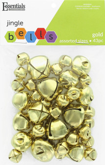 Essentials By Leisure Arts Bell Jingle Assorted Sizes Gold 43pc
