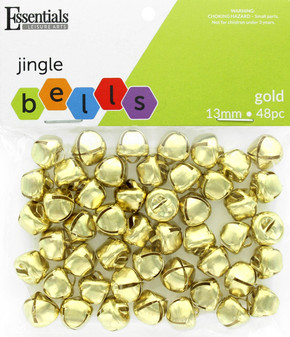 Essentials By Leisure Arts Bell Jingle 13mm Gold 48pc