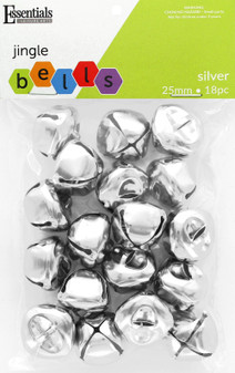 Essentials By Leisure Arts Bell Jingle 25mm Silver 18pc