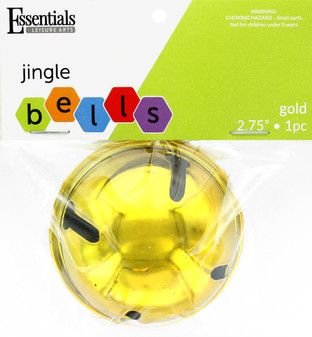 """Essentials By Leisure Arts Bell Jingle 2.56"""" Gold 1pc"""