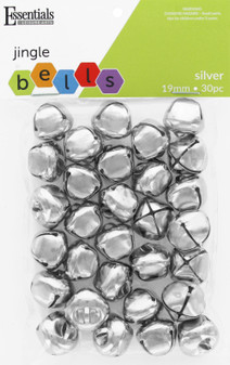 Essentials By Leisure Arts Bell Jingle 19mm Silver 30pc
