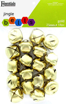 Essentials By Leisure Arts Bell Jingle 25mm Gold 18pc