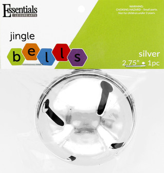 """Essentials By Leisure Arts Bell Jingle 2.56"""" Silver 1pc"""