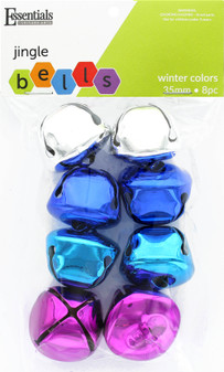 Essentials By Leisure Arts Bell Jingle 35mm Winter Colors 8pc