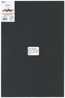 "Essentials By Leisure Arts Foam Sheet 12""x 18"" 2mm Black 15pc"