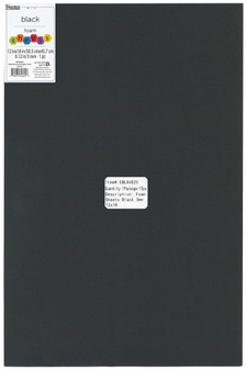 "Essentials By Leisure Arts Foam Sheet 12""x 18"" 3mm Black 15pc"