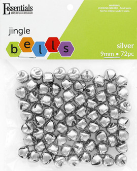 Essentials By Leisure Arts Bell Jingle 9mm Silver 72pc