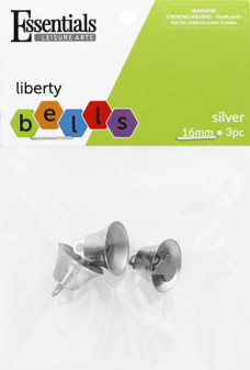 Essentials By Leisure Arts Bell Liberty 16mm Silver 3pc