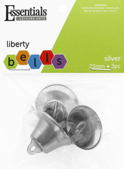Essentials By Leisure Arts Bell Jingle 25mm Silver 3pc