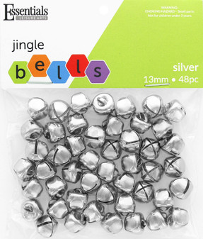 Essentials By Leisure Arts Bell Jingle 13mm Silver 48pc