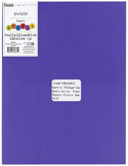 "Essentials By Leisure Arts Foam Sheet 9""x 12"" 2mm Purple 15pc"