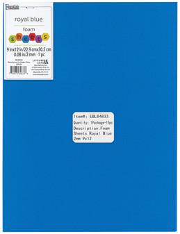 "Essentials By Leisure Arts Foam Sheet 9""x 12"" 2mm Royal Blue 15pc"