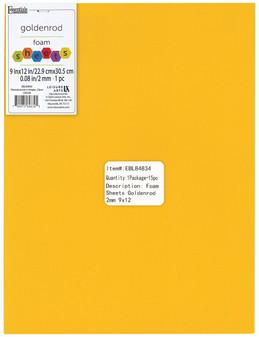 "Essentials By Leisure Arts Foam Sheet 9""x 12"" 2mm Goldenrod 15pc"