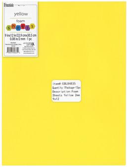 "Essentials By Leisure Arts Foam Sheet 9""x 12"" 2mm Yellow 15pc"