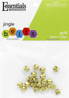 Essentials By Leisure Arts Bell Jingle 6mm Gold 20pc
