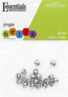 Essentials By Leisure Arts Bell Jingle 6mm Silver 20pc