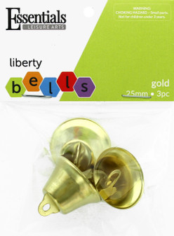 Essentials By Leisure Arts Bell Liberty 25mm Gold 3pc