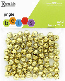 Essentials By Leisure Arts Bell Jingle 9mm Gold 72pc
