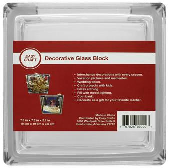 "Essentials By Leisure Arts Decor Glass Block 7.5"" Square"