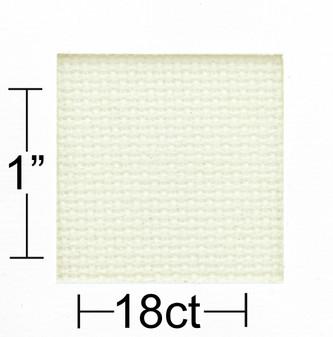 "Essentials By Leisure Arts Aida Cloth 18ct 15""x 18"" Off White"