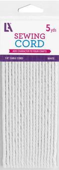 "EBL Cable Cord 1/8"" 5yd White"