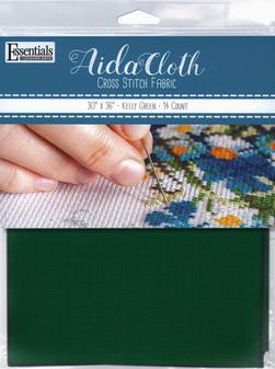 """Essentials By Leisure Arts Aida Cloth 14ct 30x 36"""" Kelly Green"""