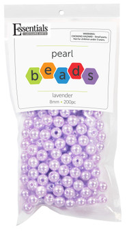 Essentials By Leisure Arts Bead Pearls Plastic 8mm Lavender 200pc