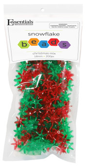 Essentials By Leisure Arts Bead Snowflake Bead 18mm Christmas Mix 200pc