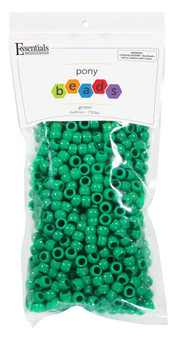 Essentials By Leisure Arts Bead Pony 6mm x 9mm Opaque Green 750pc